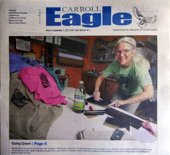 The Carroll Eagle Edition of the Baltimore Sun