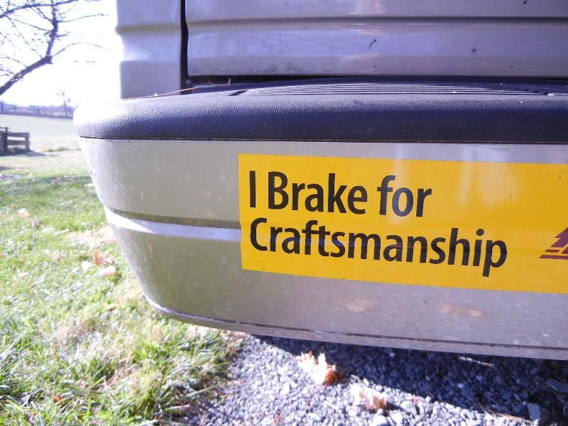 craftsmanship bumpersticker