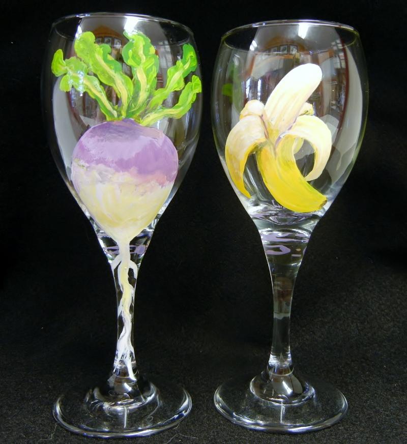 Turnip and Banana Wine Glasses