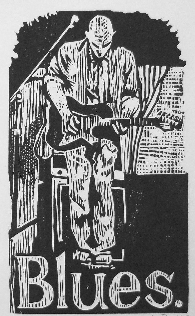 Woodcut of John Mooney