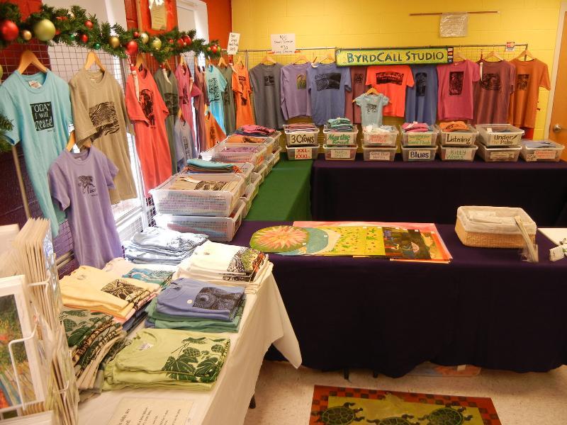 Large booth setup at Mistletoe Mart