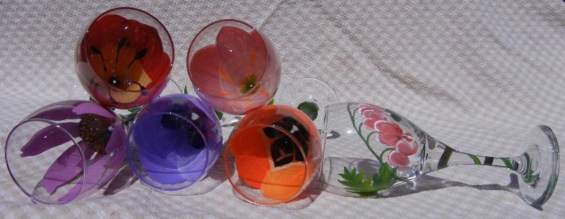 wine glasses horizontal