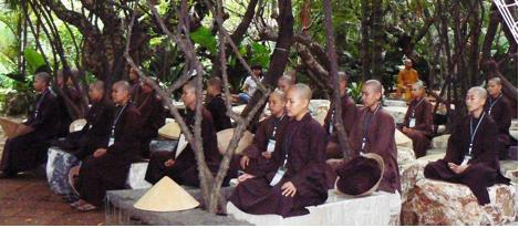 Plum village meditators