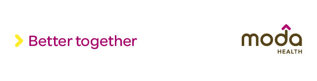Better together Moda Health header