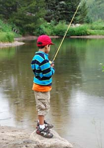 Boy Fly Fishing
