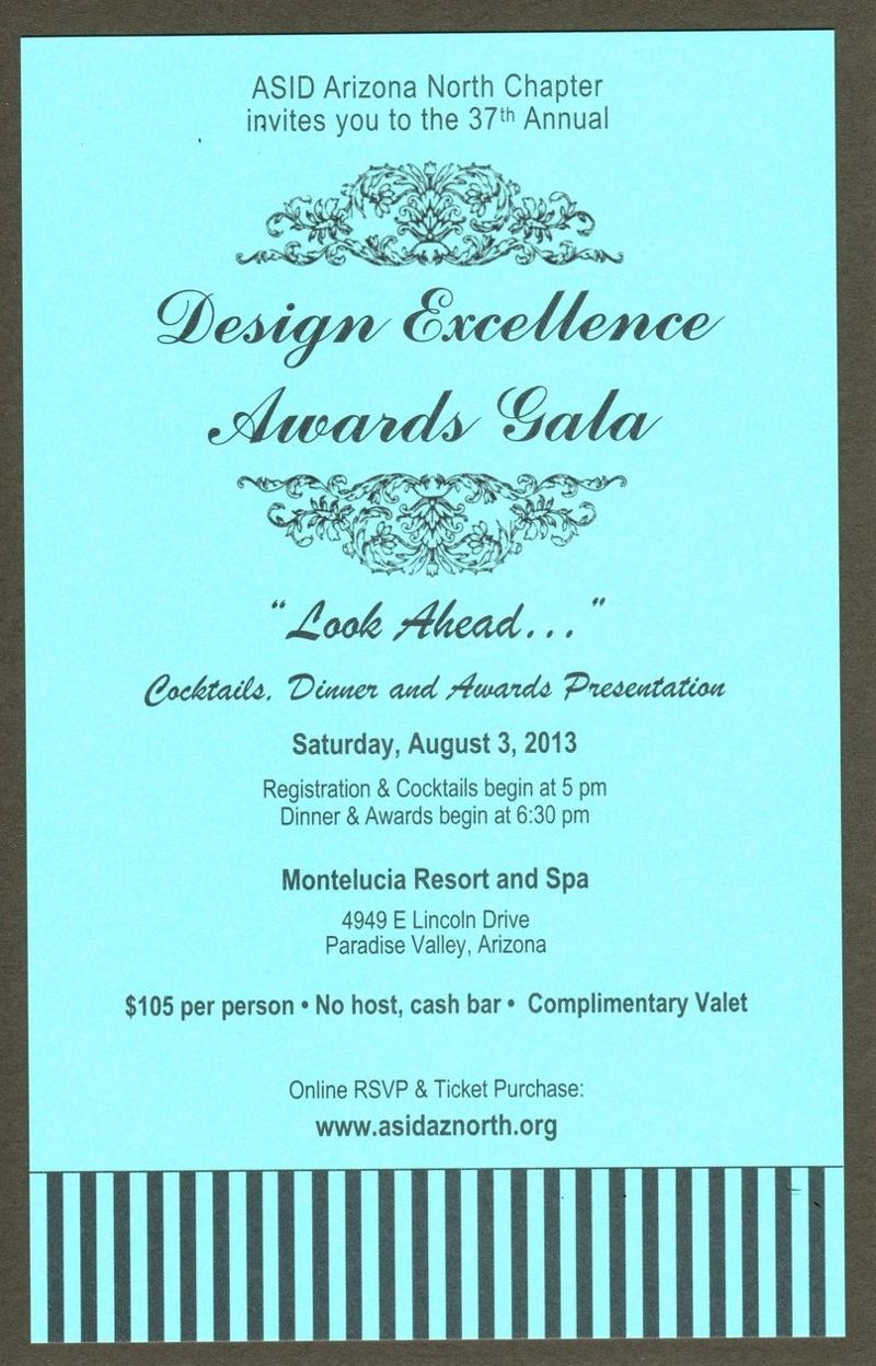 Awards Gala invitation