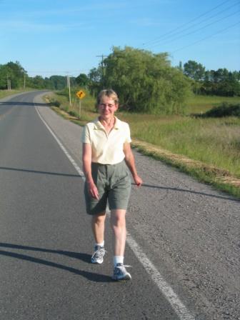 Joan walking