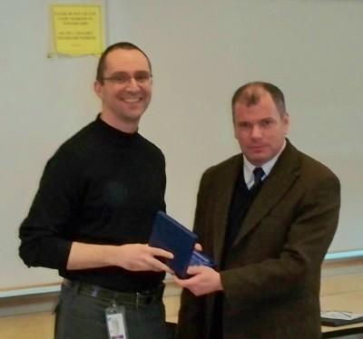 Dr. Stuart receives award