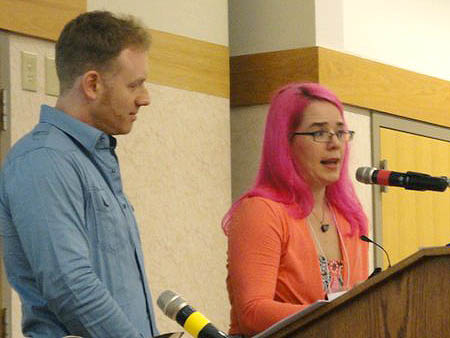 Jim DiBartolo and Laini Taylor