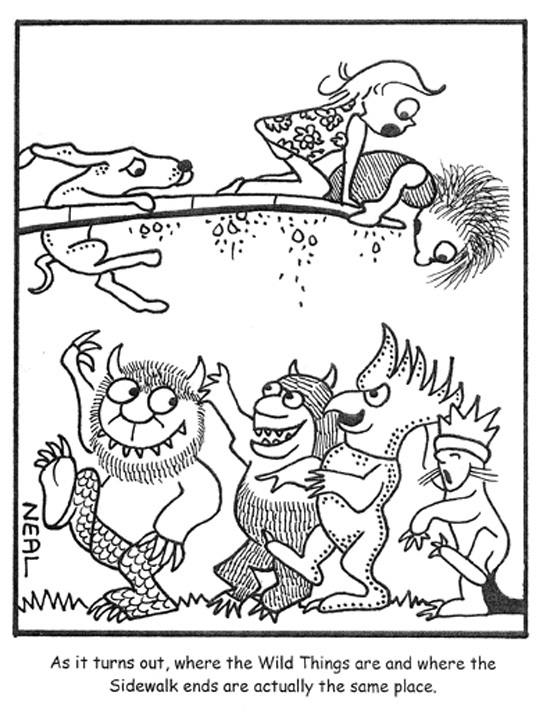 Neal Levin cartoon Wild Things
