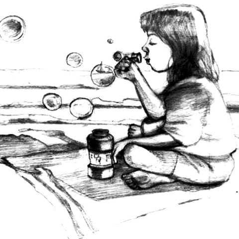Blowing Bubbles by Lori McElrath Eslick