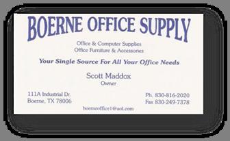 Attractive Boerne Office Supply Biz Card Shdw Web