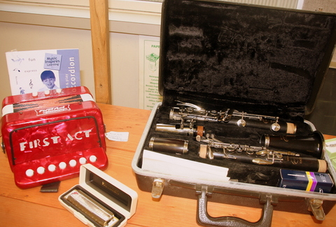 Musical Instruments for Rummage Sale