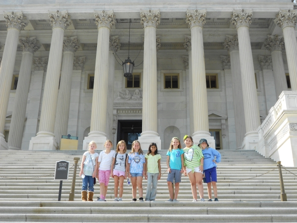 9-12 girls on Capitol steps