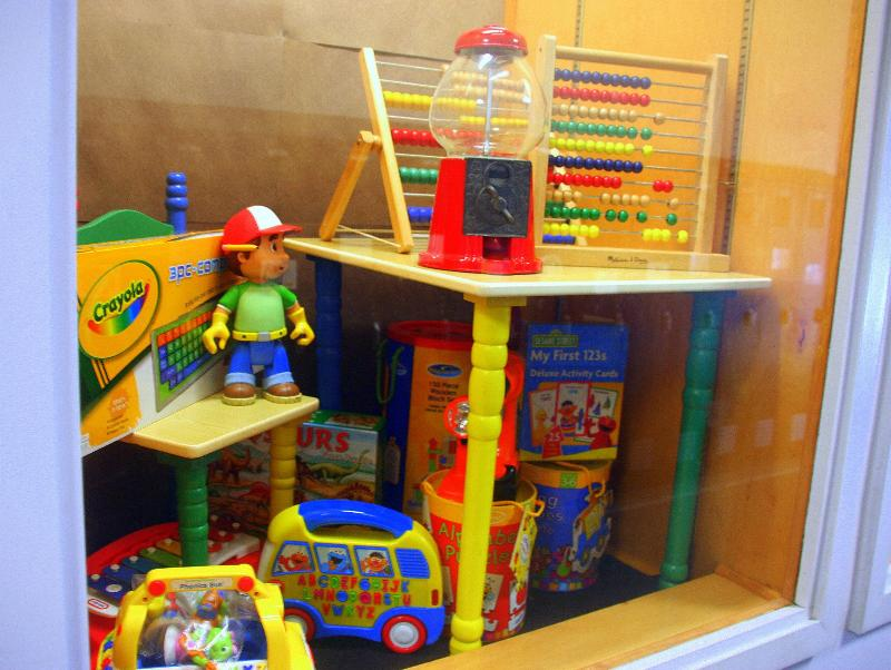 Rummage Sale - Primary Colors Display