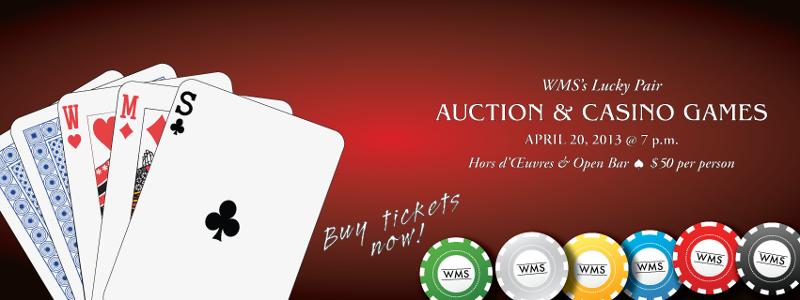 Wilmington Montessori School Lucky Pair Auction & Casino Games Night - April 20, 2013