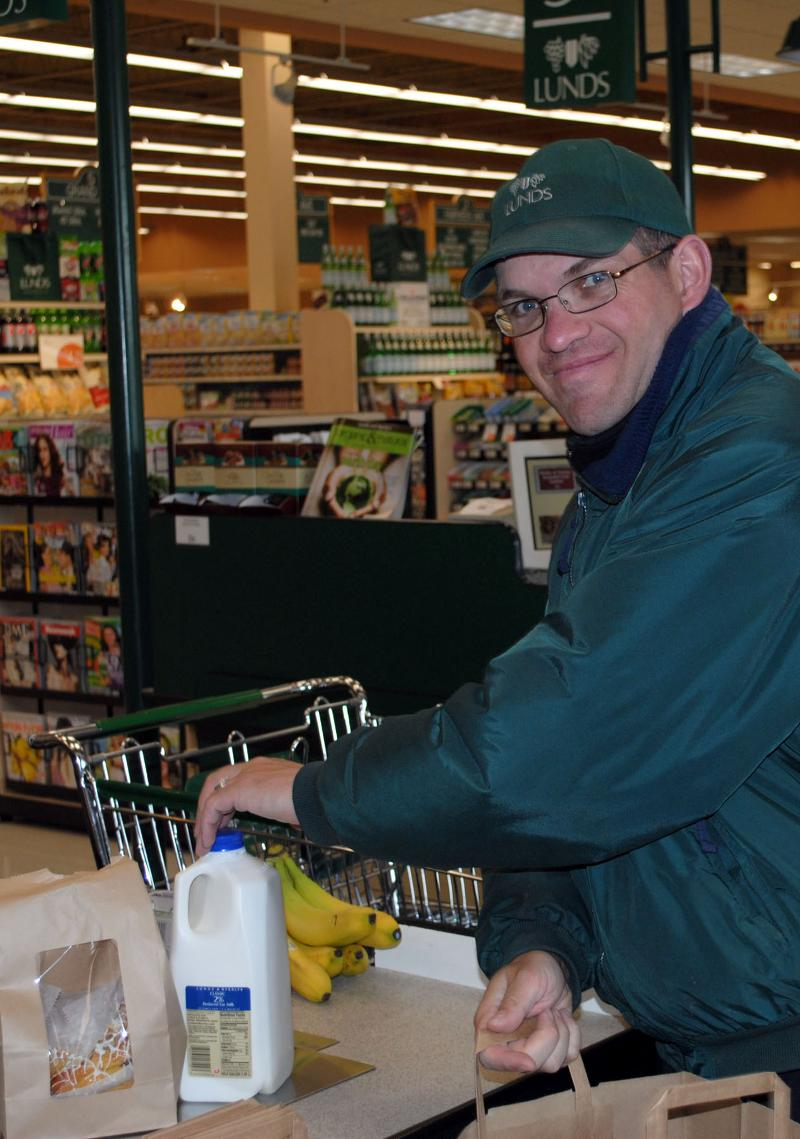 Mike working at Lunds