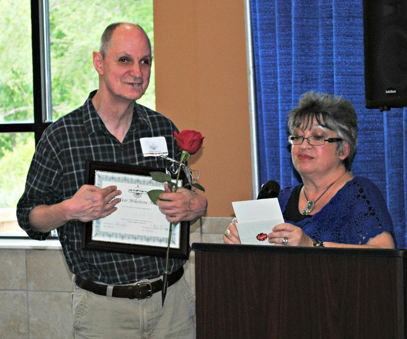 David receiving his award