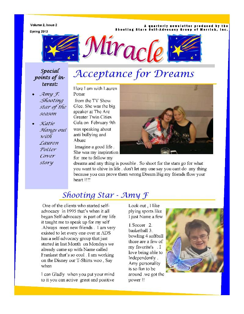 Miracle page 1