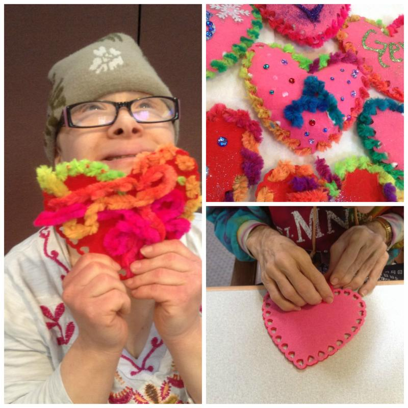 Clients participate in art therapy
