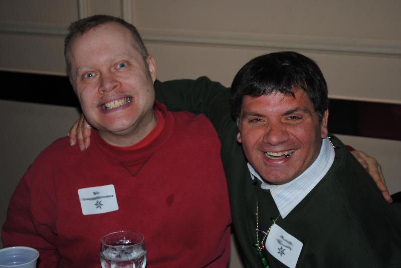 Bill and David enjoying the Client Holiday Party