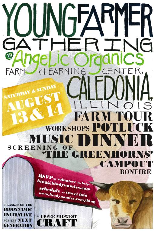 young farmer gathering poster