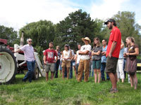 Farm tour at the 2011 gathering
