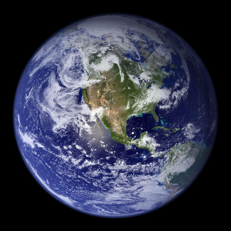 Blue marble photo of the Earth