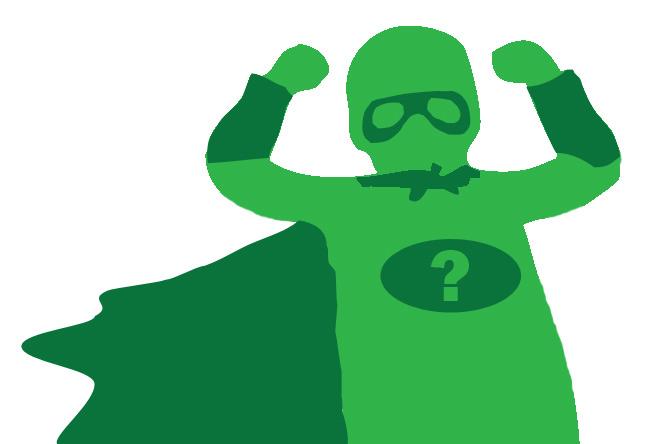 Green super hero