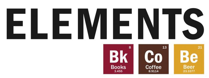 logo for Elements: Books, Coffee, Beer