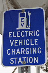 sign for an electric vehicle charging station