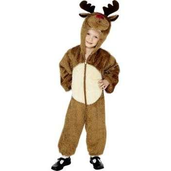 kid in reindeer costume