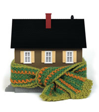 house in scarf