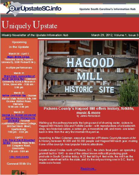 Uniquely Upstate E-Newsletter