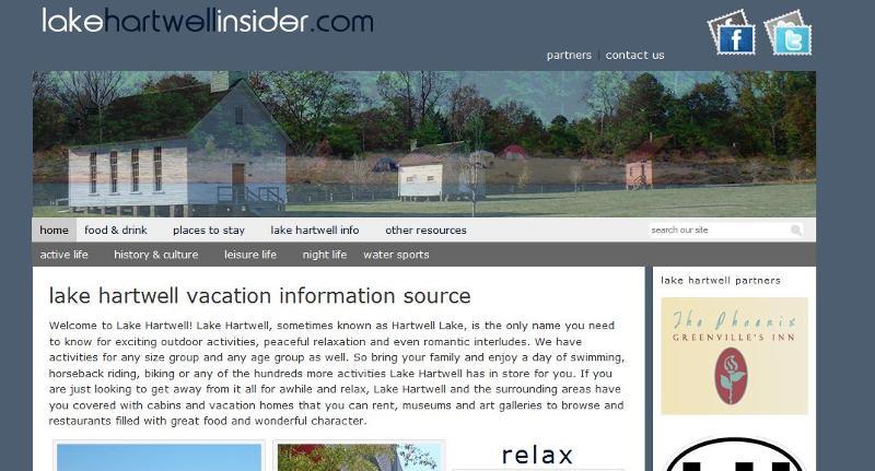Lake Hartwell web site