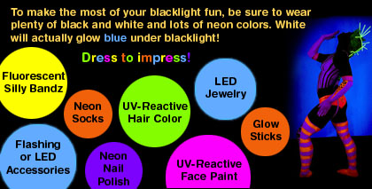 what to wear for black light party