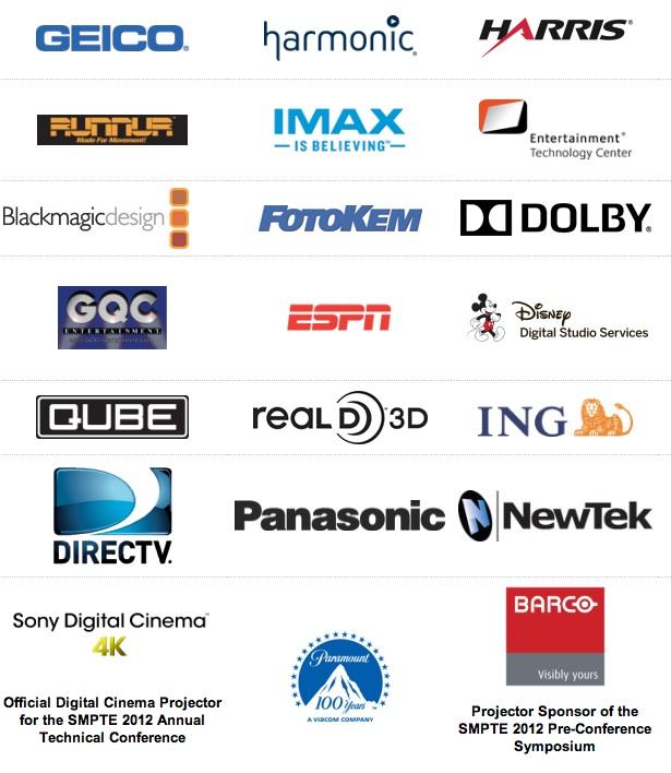 SMPTE 2012 Sponsor Logos