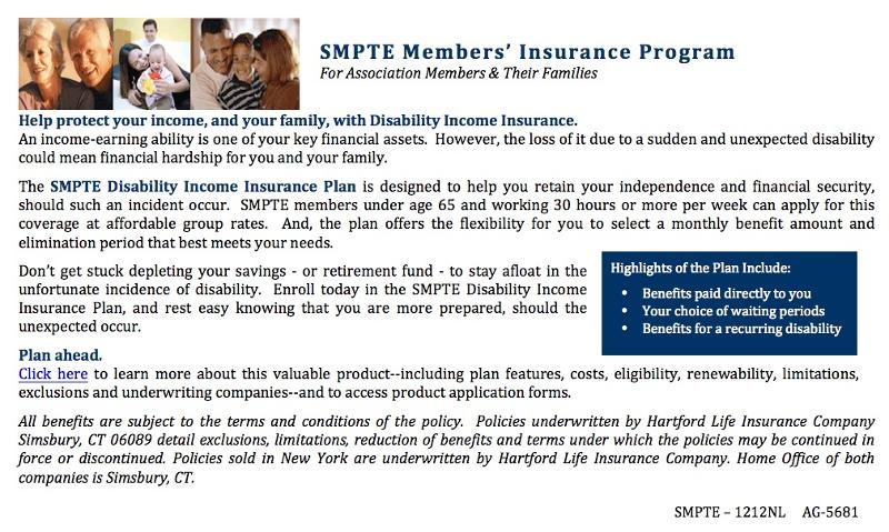 SMPTE Members Insurance Program