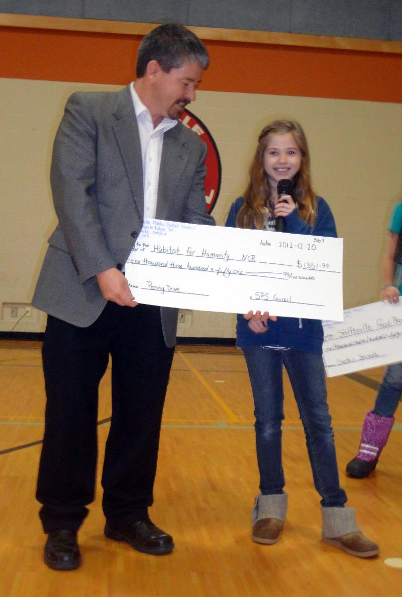 Stittsville Cheque Presentation