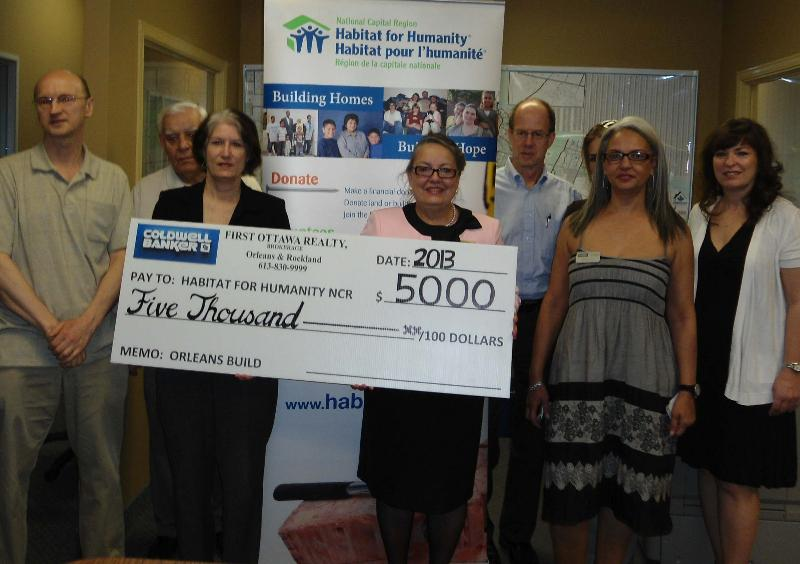 Coldwell Banker Cheque Presentation Nantes Build