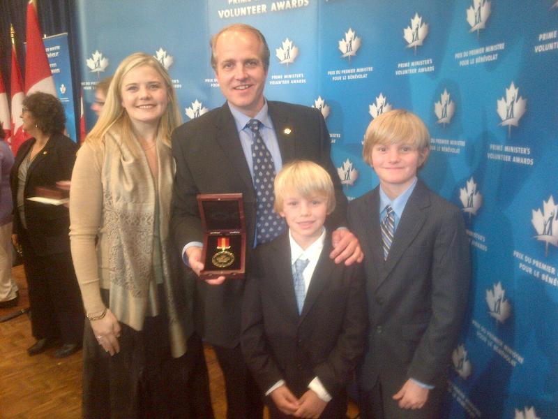 Johannes and family PM Volunteer Award