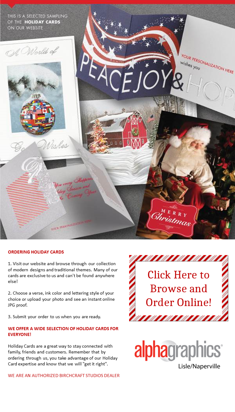Order your holiday cards online alphagraphics lislenaperville alphagraphics lislenaperville makes it easy for you to purchase your holiday cards and promote your business reheart Images