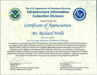 Nevada geographic information society newsletter wells cert of appreciation yadclub Images