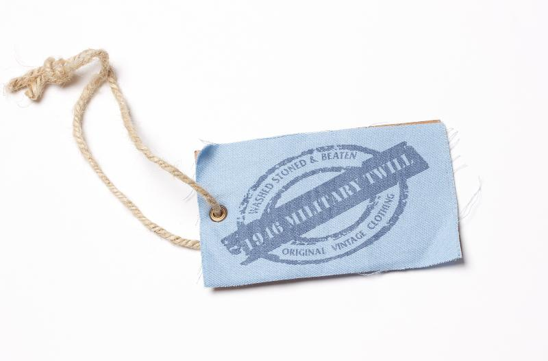 1946 Military Twill blue cloth hangtag