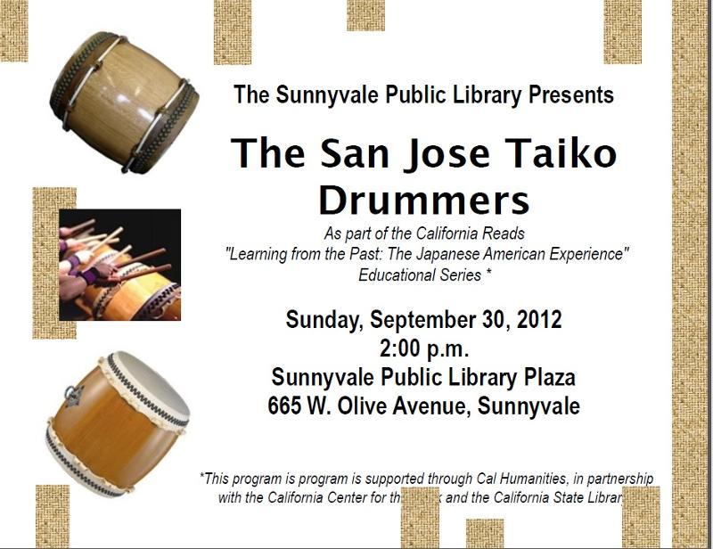 SJ Taiko Sunnyvale Reads Event