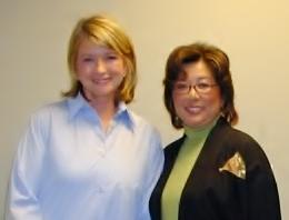 Martha Stewart and Vicky Mihara-Avery