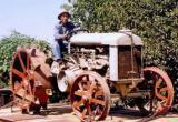 Photo: Eiichi on tractor 2002