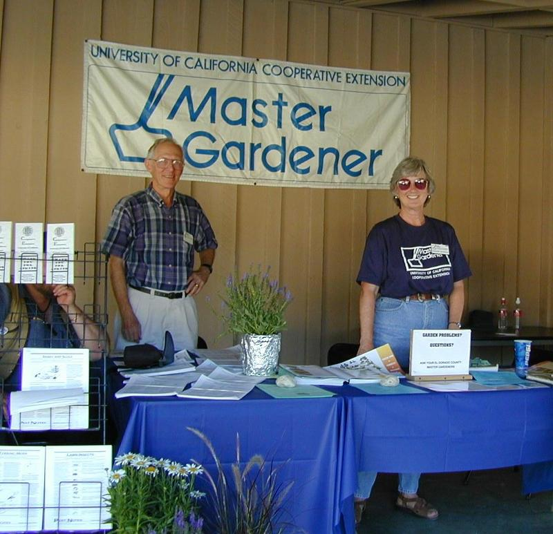 Master Gardener Booth at the County Fair