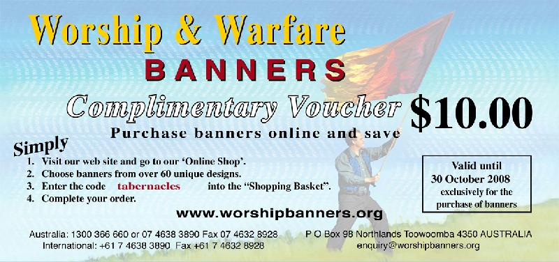 Voucher - Feast of Tabernacles