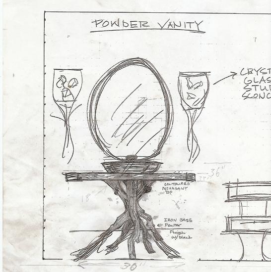 Sketch of Vanity